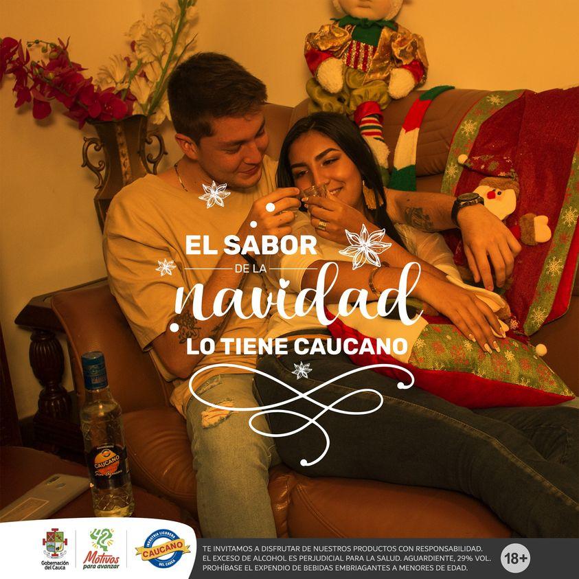 El inicio de la Navidad tiene sabor a #AguardienteCaucano ¡El mejor del mundo! 🍾 🌎🎄🙌🏼✨