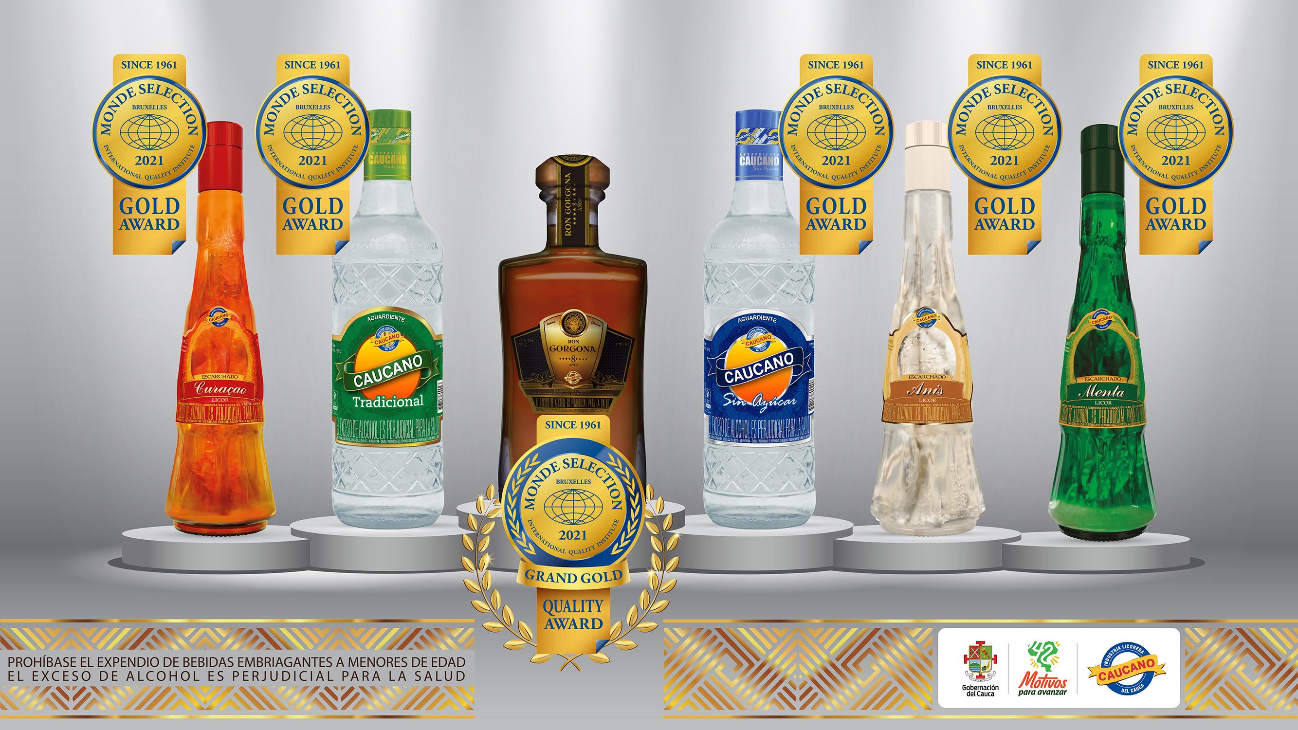 Industria Licorera del Cauca nuevamente premiada en los MONDE SELECTION de Bélgica