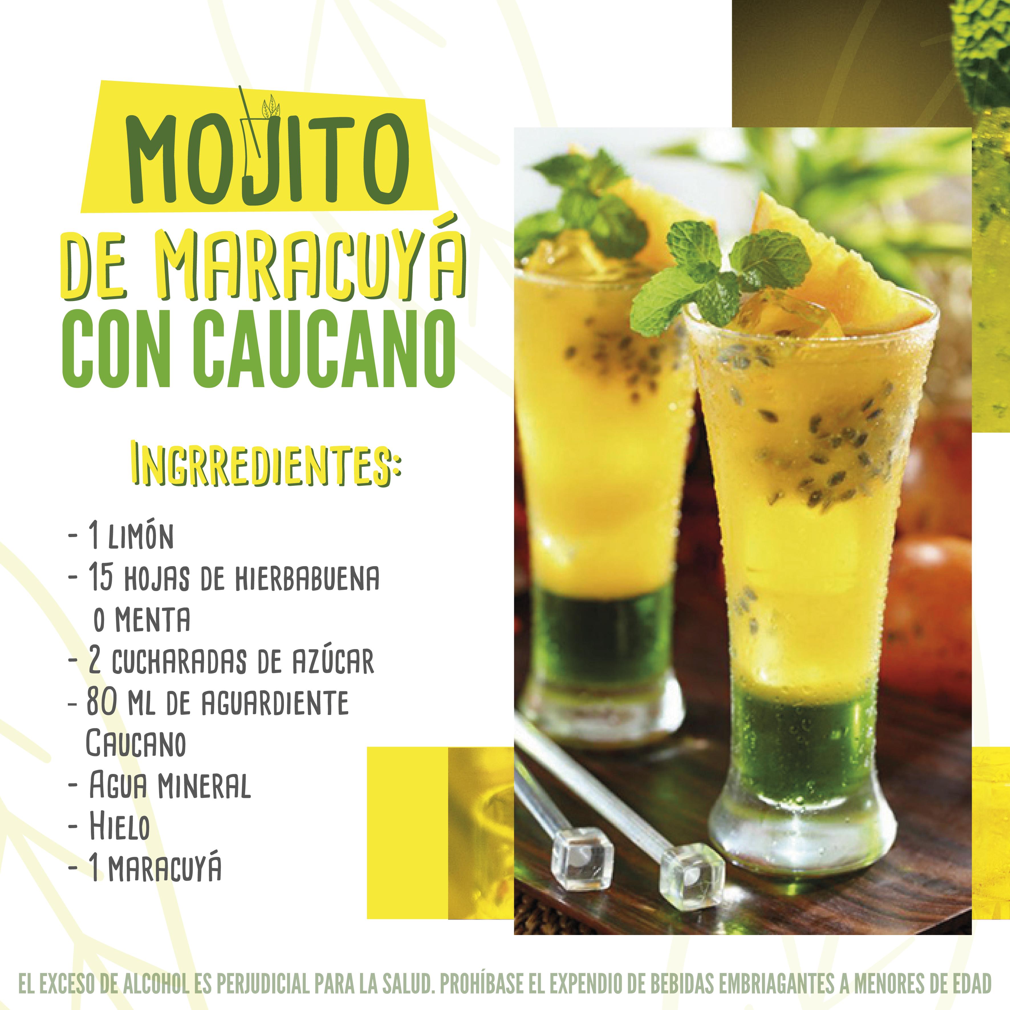Mojito de Maracuyá con Aguardiente