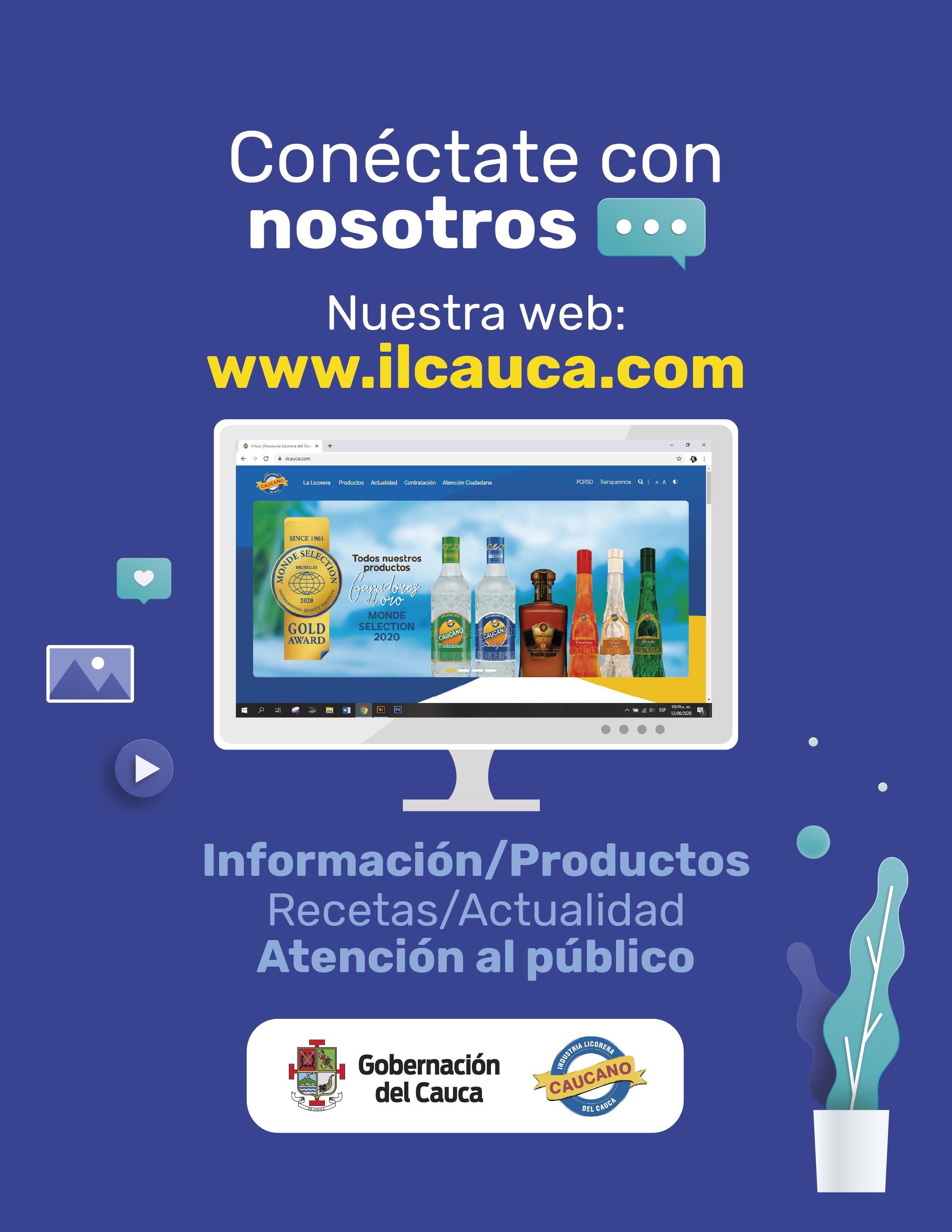 Industria Licorera del Cauca tiene nueva página web