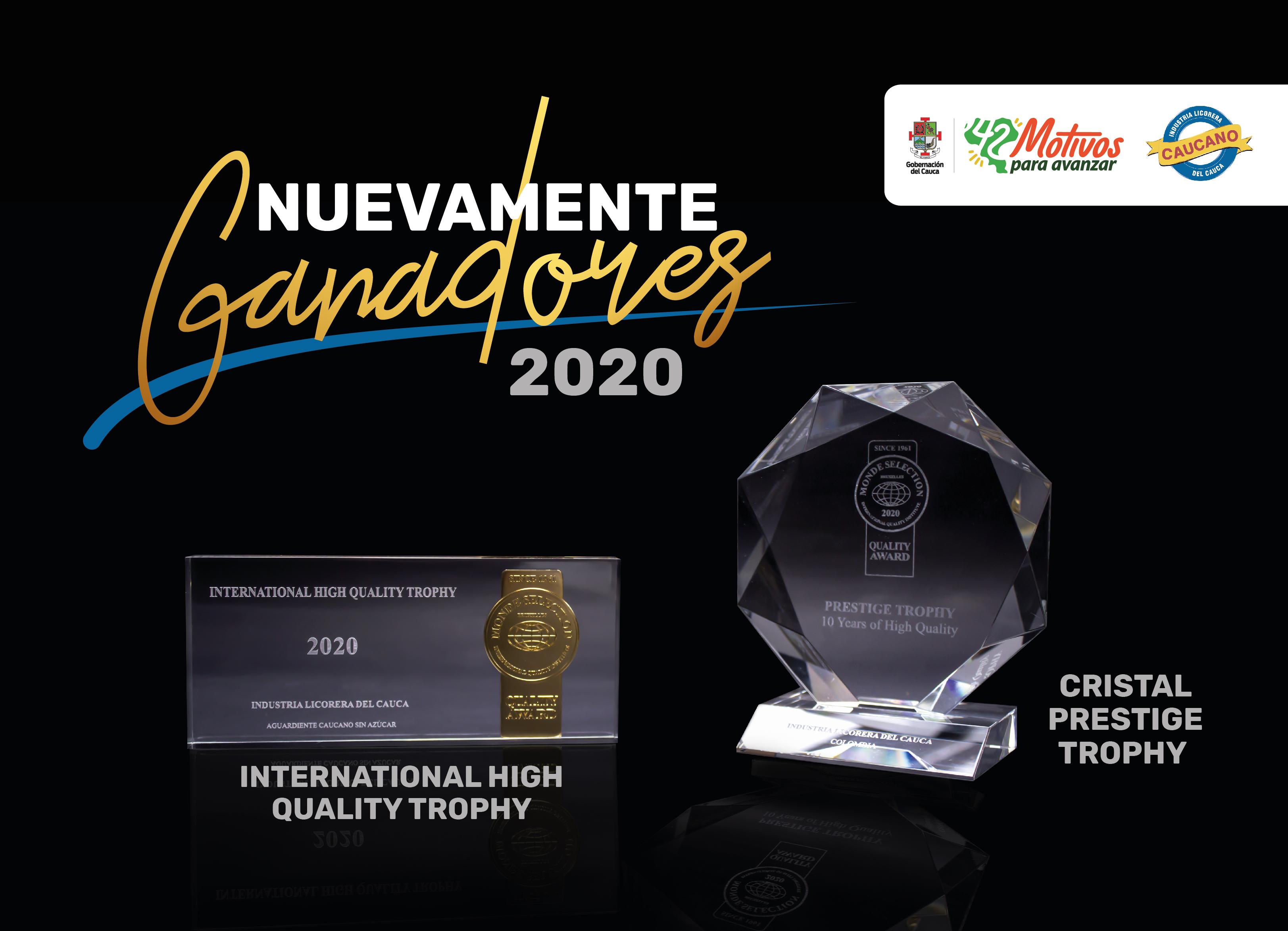 Licorera del Cauca ganó dos nuevos trofeos del Monde Selection de Bélgica