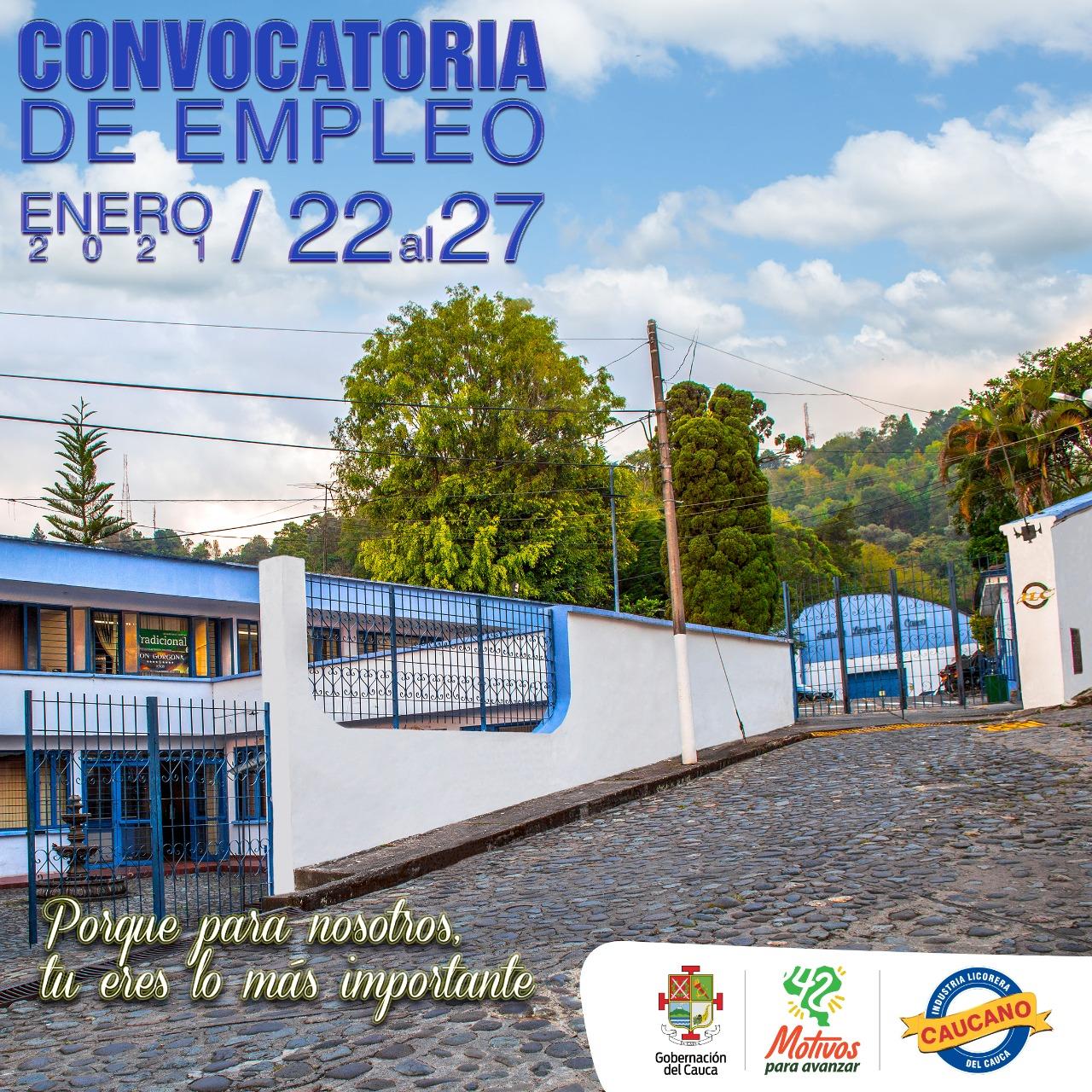 ABIERTA NUEVAMENTE CONVOCATORIA DE EMPLEO EN LA INDUSTRIA LICORERA DEL CAUCA