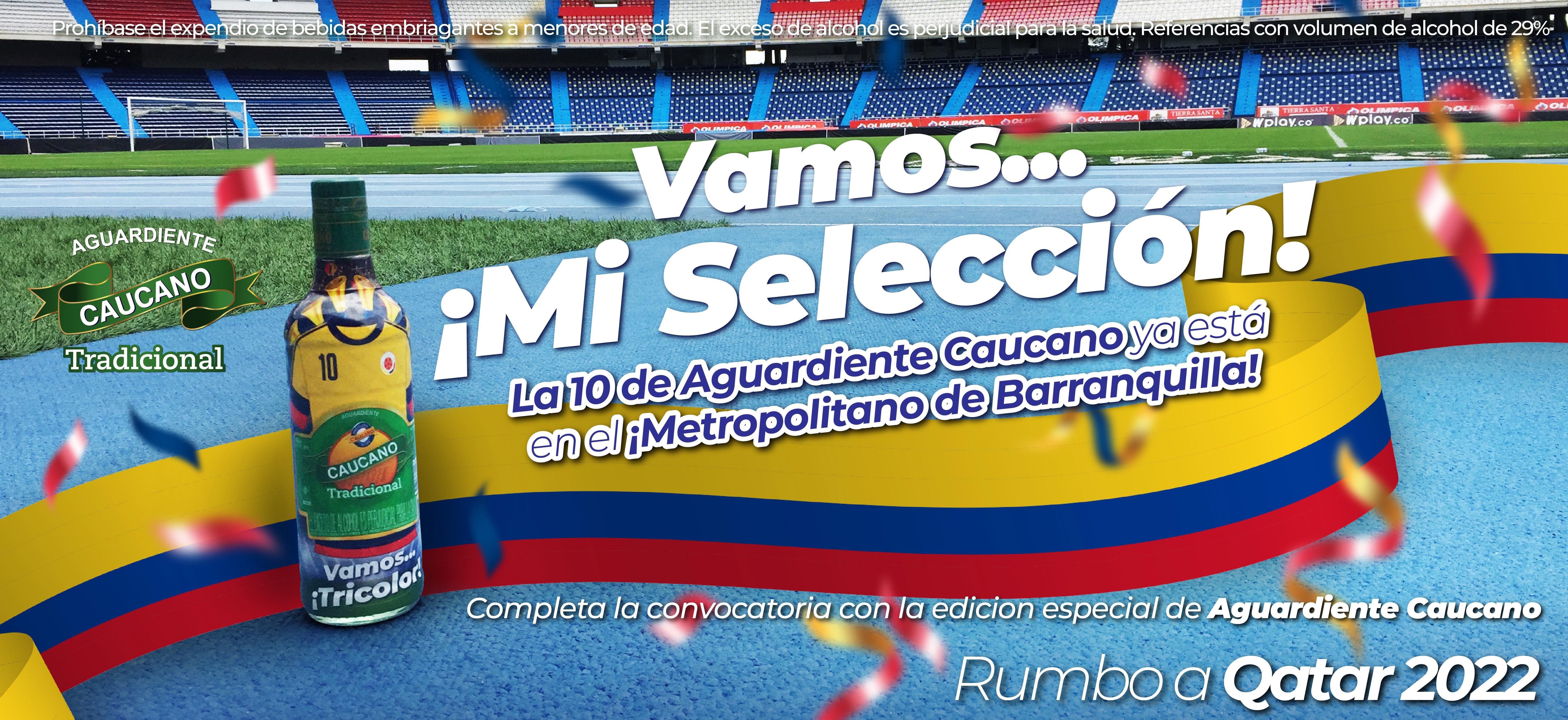 ¡La 10 de Aguardiente Caucano ya está en el Metropolitano de Barranquilla!